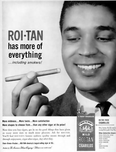 Mild Roi Tan Cigarillos Advertisement - Ebony Magazine, November, 1959