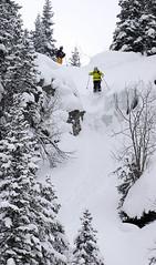 Train SNOWfest 08 - Luboš se pustil do jednoho ledopádu.