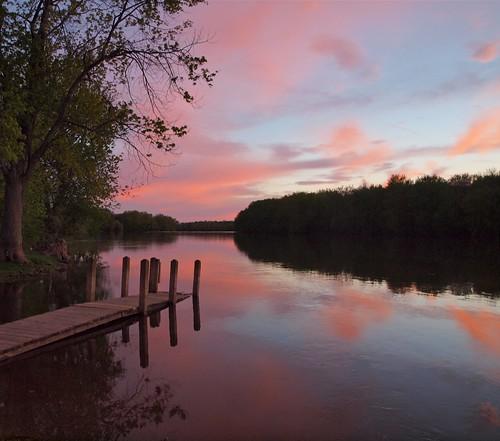 park sunset summer sun water set sunrise river dock day riverside cloudy grand rapids grandrapids riversidepark riversideparkgrandrapids