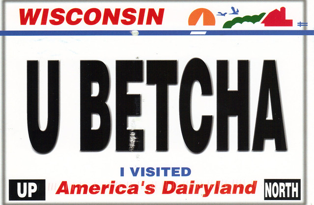 Wisconsin License Plate Postcard