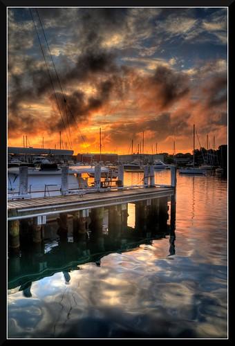 morning sunrise harbor falmouth