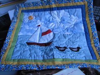 Sea Mini Quilt from Saniye