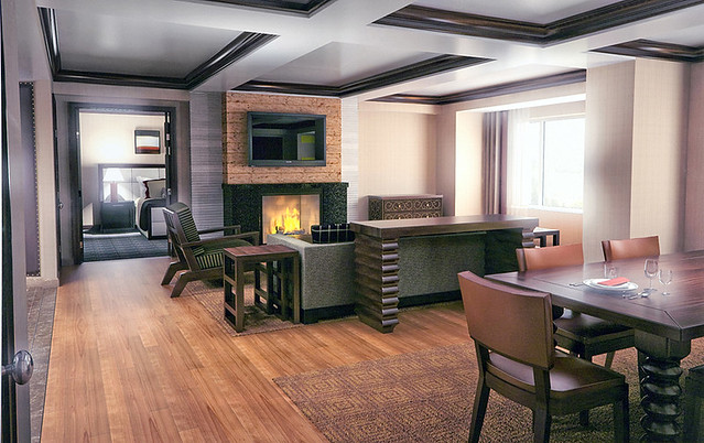 Ameristar Black Hawk Hotel Presidential Suite Living Room
