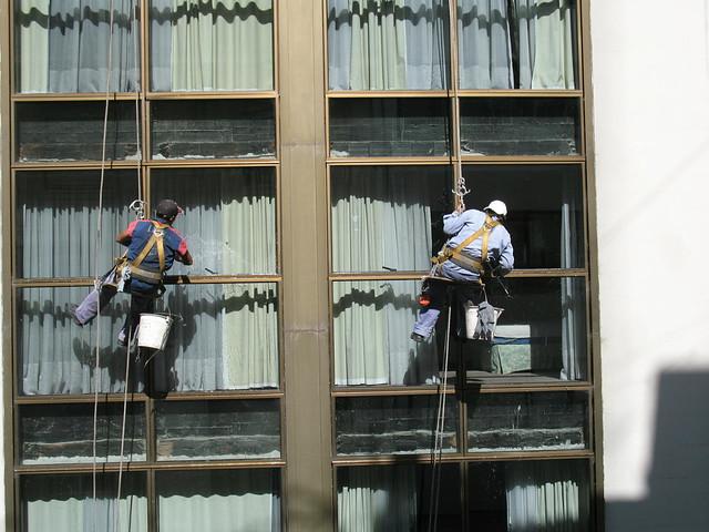 Los limpiadores de vidrios