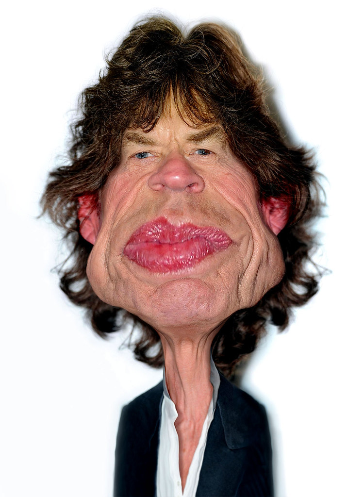 Mick Jagger of The Rolling Stones | rwpike blogspot com/2011