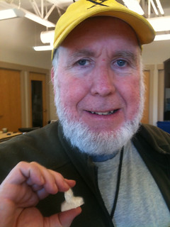 Kevin Kelly with 3D printed head | by atduskgreg