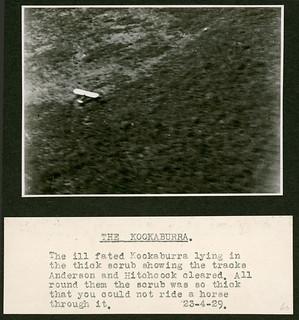 "'The flight of the ""Canberra"", April 1929' – The ""Kookaburra"""