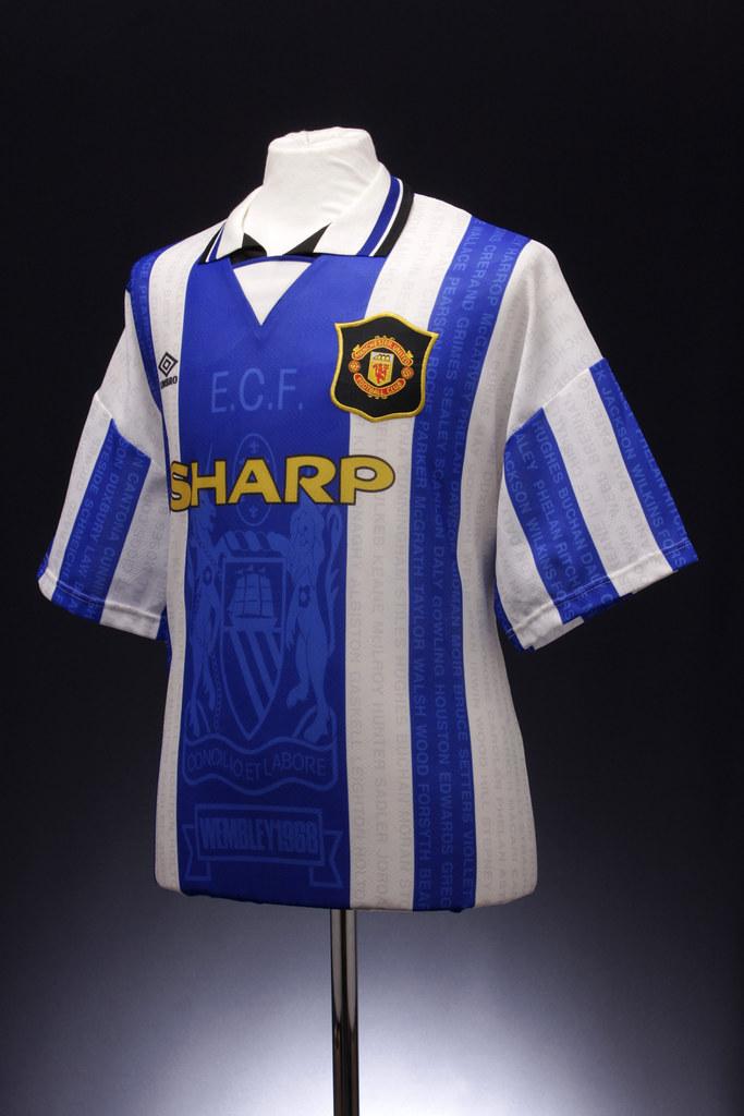 half off bb31f 6700a Manchester United Football Shirt (1994-1996, third shirt ...