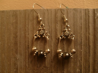 Pearls In Shades of Gray Earrings | by Christina Helton's Shops