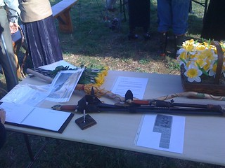 Some mementos and the guest book