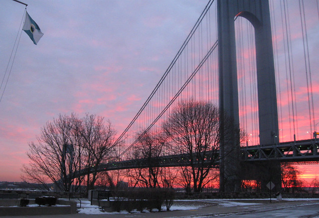 Sunrise at the Narrows - Seen on the Evening News