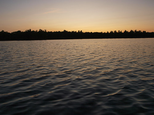 sunset lake ontario canada water silhouette ripple bucklake