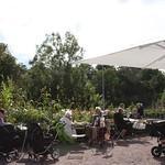 Slottsträdgårdens café, uteservering