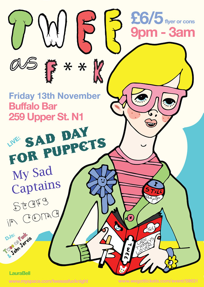 November poster | Twee as Fuck the nicest club night in