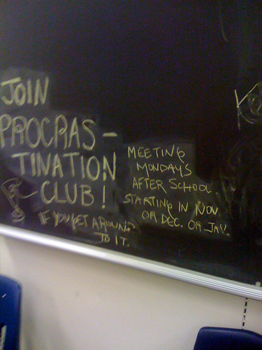 Join procrastination club! | by fruchter