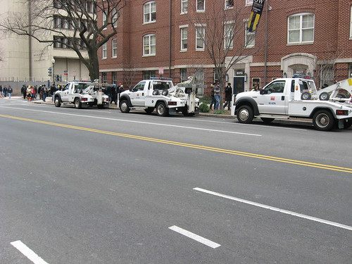 Tow Trucks Prepping for Inauguration Concert   by Xeusy