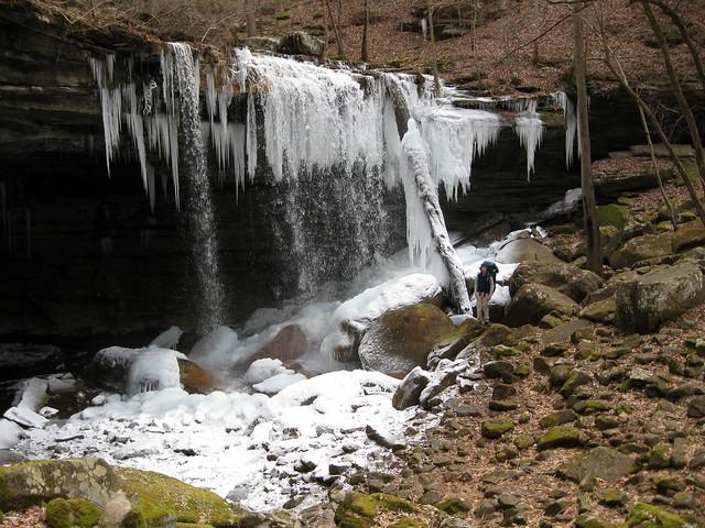 Big Laurel Falls, Big Laurel Creek Cave, Jason Collard, Virgin Falls State Natural Area, White Co, TN