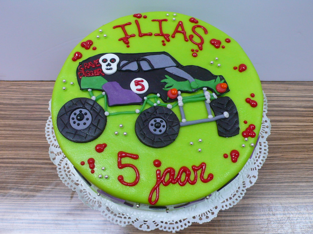 Cool Grave Digger Monster Truck Cake The Grave Digger For A L Flickr Funny Birthday Cards Online Alyptdamsfinfo