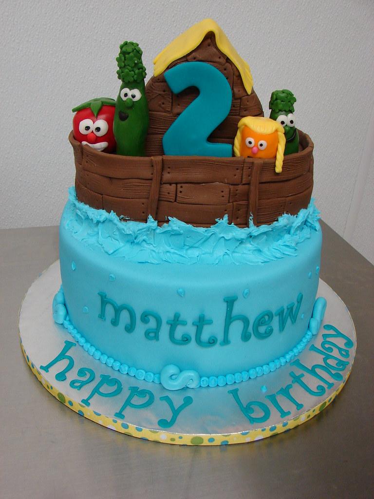 Groovy Veggie Tales Birthday Cake Clarissa Lopez Flickr Personalised Birthday Cards Veneteletsinfo