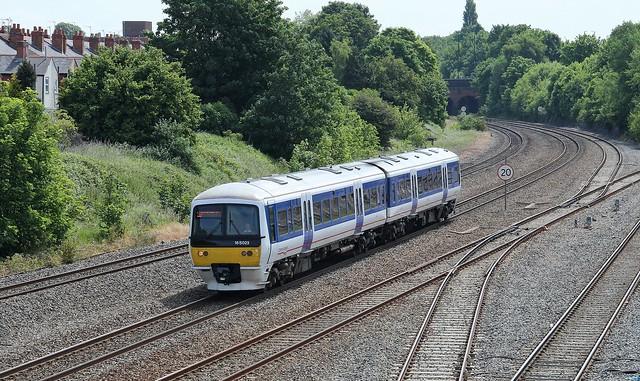 Chiltern Railways Unit 165023 approaching Tyseley, 18th. June 2015.