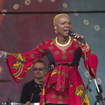 Sat, 20/06/2015 - 2:56pm - The fabulous Angelique Kidjo on the main stage Saturday afternoon, 6/20/15. Photo by Gus Philippas