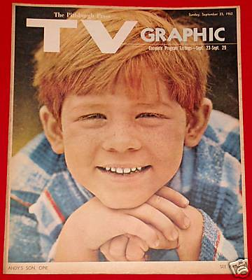 September 21 1963 Andy Griffith Show Cbs Opie Pittsburg Flickr