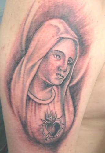 virgen maria tattoo (exotic tattoo medellin) | exotictattoos | Flickr