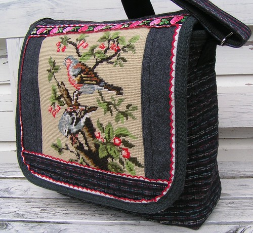 messenger bag, vintage embroidery | by dutch-colours