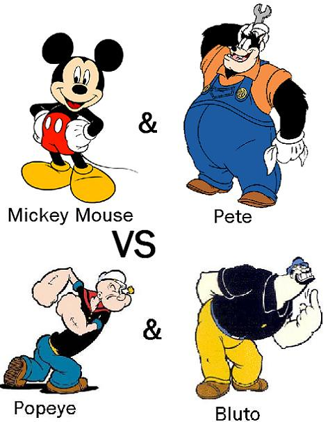 Ended 9 21 09 Round 1 Match 12 Mickey Mouse And Pete V Flickr