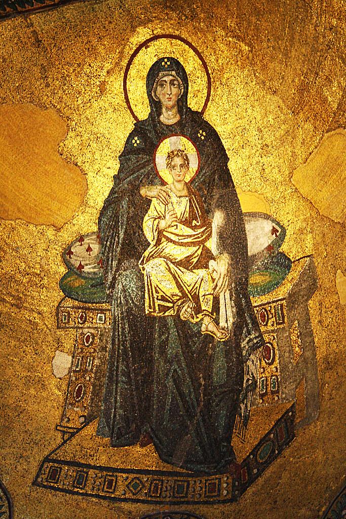 Theotokos Mosaic, Hagia Sophia, Constaninople | Hagia Sophia… | Flickr