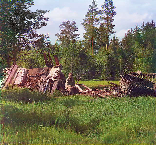 Hut of settler Artemy called Kota