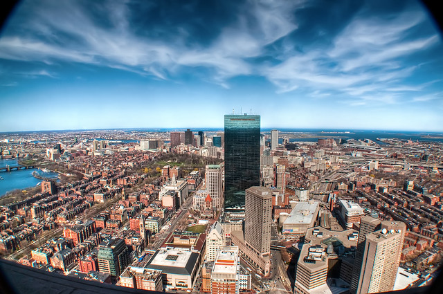 View down on Beacon Hill & Back Bay
