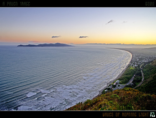 ocean light sea newzealand sky sun clouds sunrise reflections geotagged coast surf explore frontpage hdr kapiti kapitiisland july18 mywinners tomraven aravenimage q309 geo:lat=41004233 geo:lon=174938092