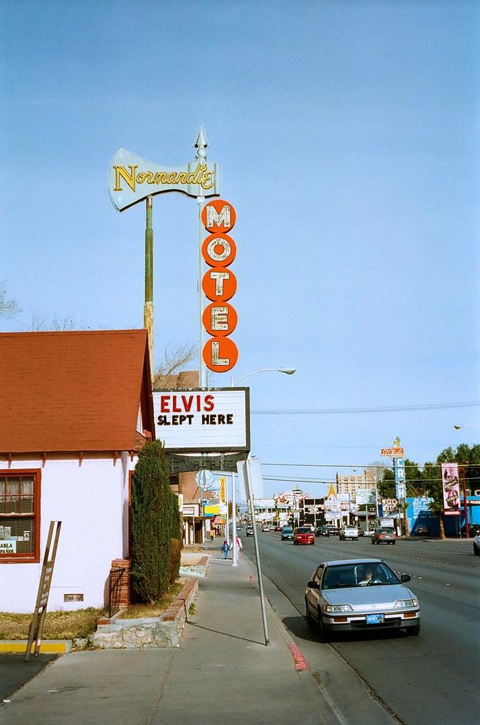 Las Vegas 94 >> 1994 Las Vegas Normandie Motel Elvis Slept Here Image