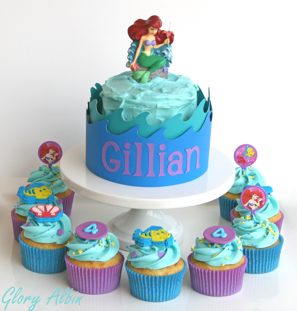 Little Mermaid Birthday Cakes | Cupcakes and mini cake for a… | Flickr