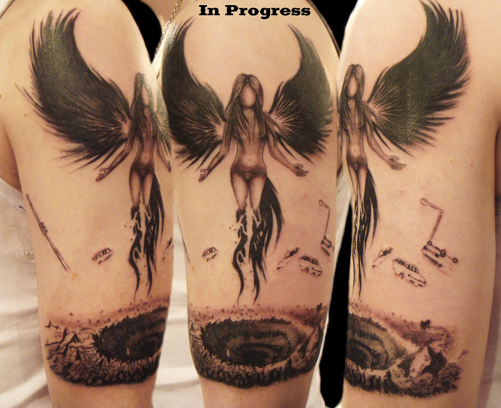 ffa76f7843634 Dark Angel tattoo | Miguel Angel Custom Tattoo Artist www.mi… | Flickr