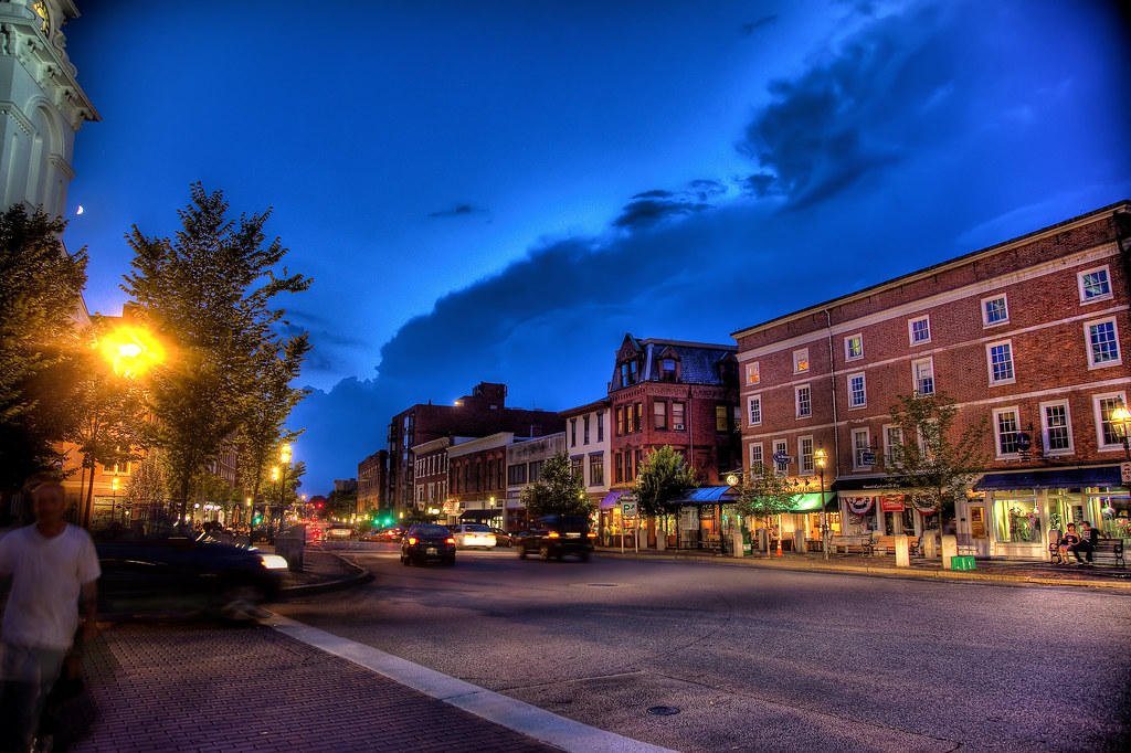 A Congress Street Evening by Philip Case Cohen
