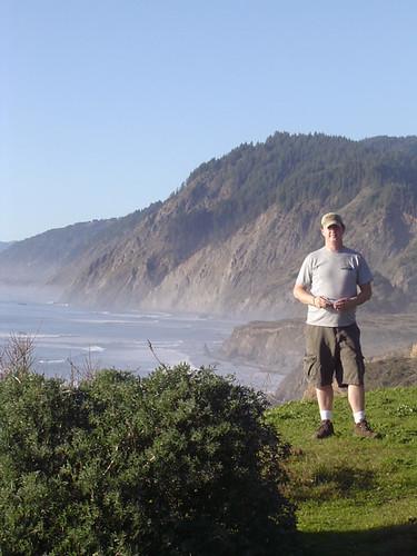 ocean cliff me person phil mendocino sinkyone