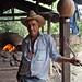 Hombre con un horno para pan de maíz - Man with an oven for bread made from corn; Aldea El Bramadero, Estelí, Nicaragua by Lon&Queta