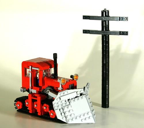 snow tractor katy lego plow moc virginialeeburton katyandthebigsnow