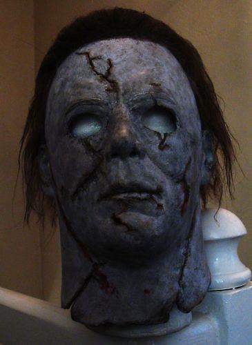 Halloween 2 Rob Zombie Mask.Rob Zombie Halloween Michael Myers Scarred Mask 2