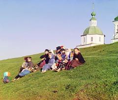 The group of children, 1909   by Sergey Prokudin-Gorsky