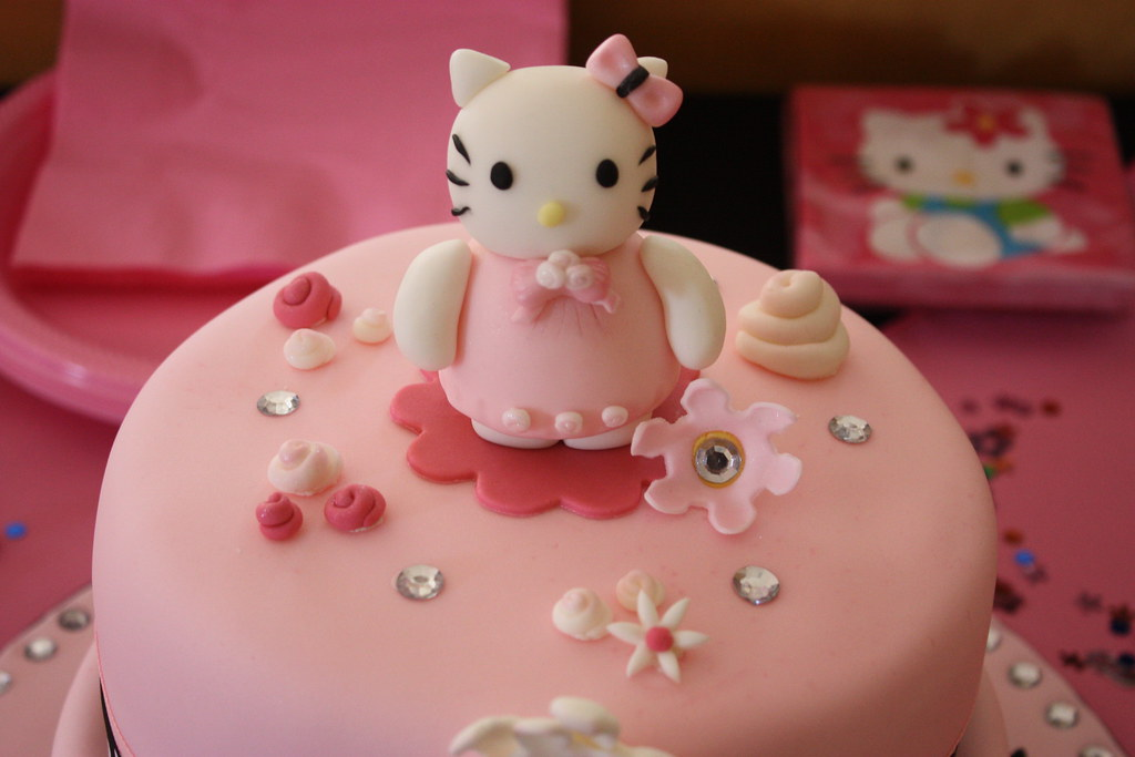 Tremendous Hello Kitty Birthday Cake Hello Kitty Glam Christine Flickr Funny Birthday Cards Online Drosicarndamsfinfo