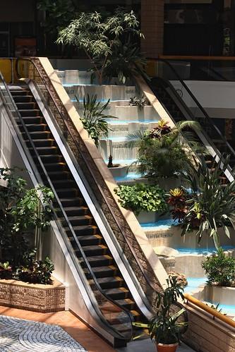 plants tree fountain mall shopping dead texas planters corpuschristi empty escalators bushes cautiontape billiejean sunrisemall blockedoff filminglocation 80smovie dyingmall legendofbilliejean