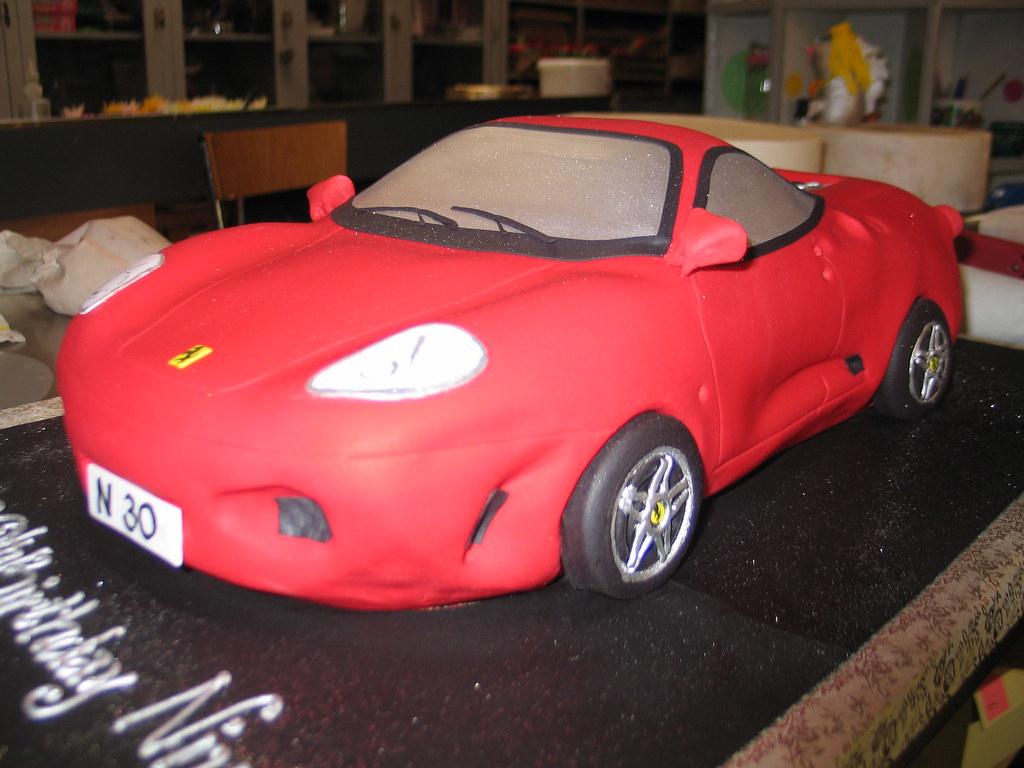 All Sizes 3d Ferrari Car Shaped Birthday Cake Flickr Photo Sharing