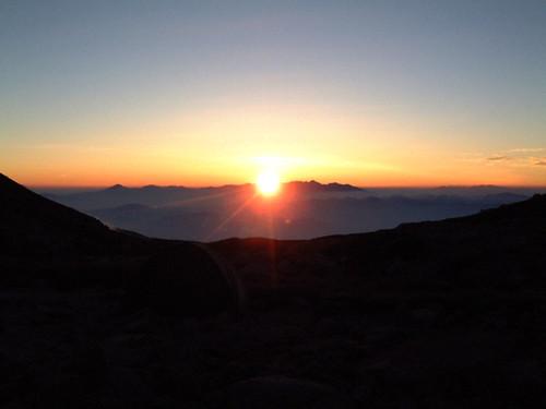 alps japan sunrise earth 夜明け 大地 木曽駒ケ岳