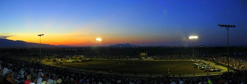 auto sunset autostitch utah ut panoramic racing nascar demolitionderby tooele millermotorsportspark campingworldseries
