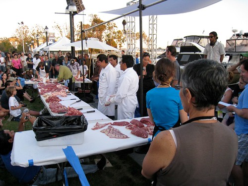 flying knives butchery contest eat real fest 2009