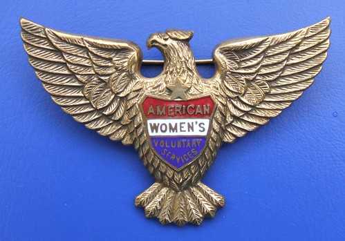 American Women's Voluntary Services (AWVS) enamel badge, WW2 | by RETRO STU