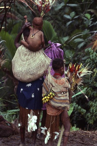 Waina woman and girl wearing string bags and ritual attire (Photo M. MacKenzie). | by uscngp